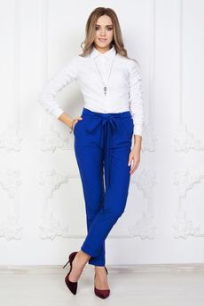 Синие брюки с высокой талией Angela Ricci со скидкой