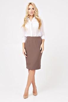 Коричневая юбка-карандаш Angela Ricci