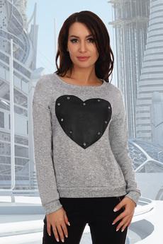 Новинка: серый джемпер с сердцем Натали