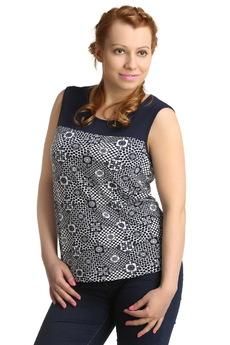 Блузка с геометрическим узором ElenaTex со скидкой