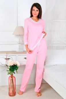 Новинка: розовая пижама с кружевом Милана