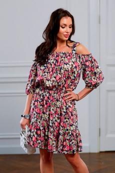 Платье в розовый цветочек Look Russian